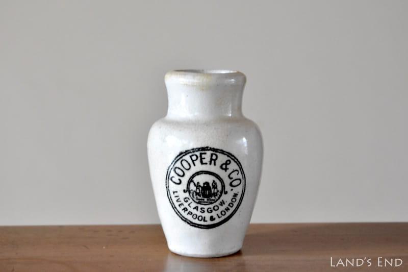 アンティークの陶器