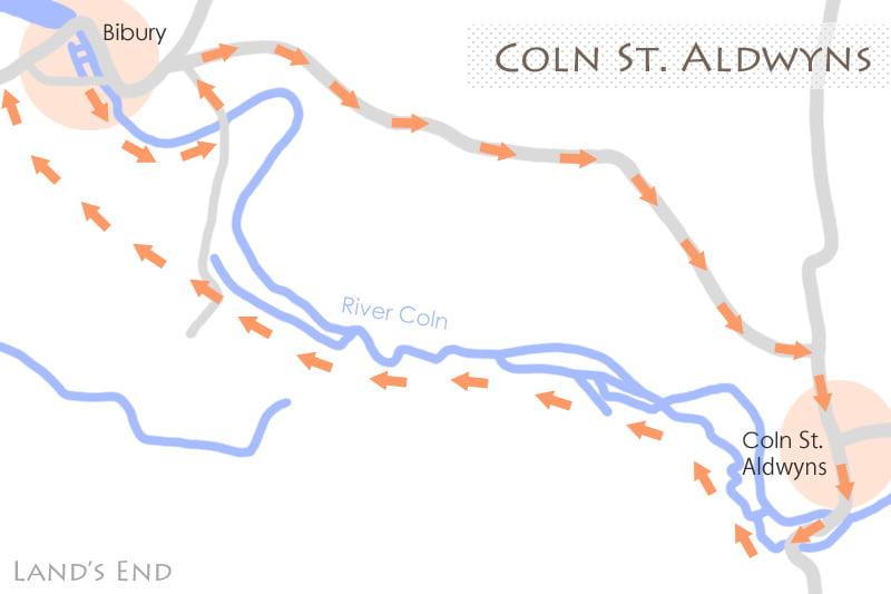 コルン・セント・オルドヴィンズの地図
