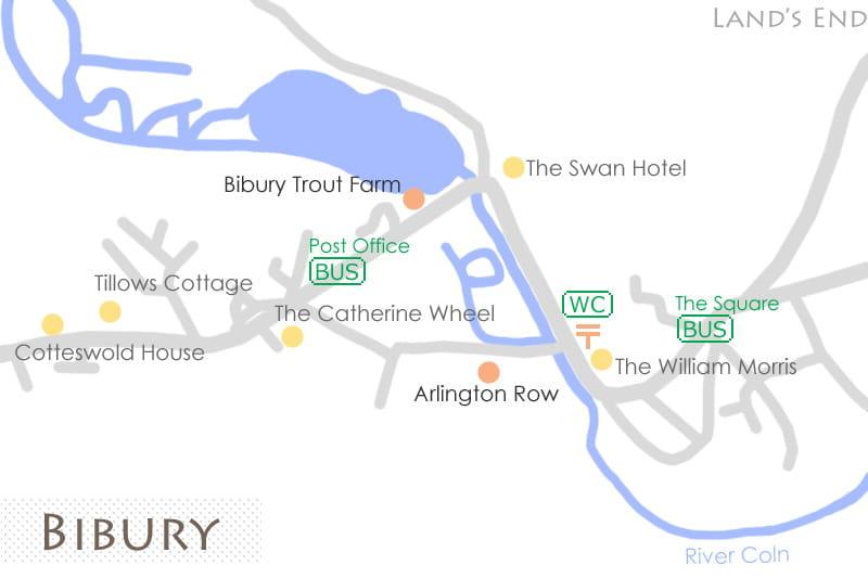 バイブリーの地図