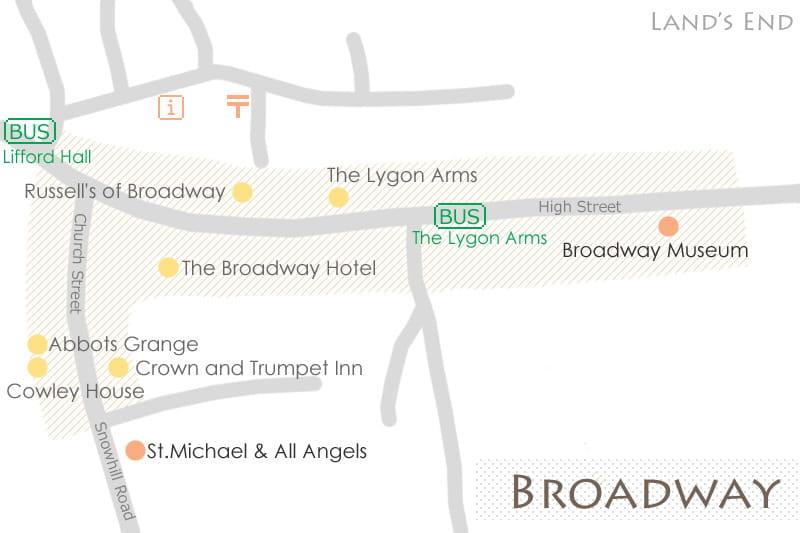 ブロードウェイの地図
