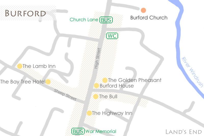 バーフォードの地図