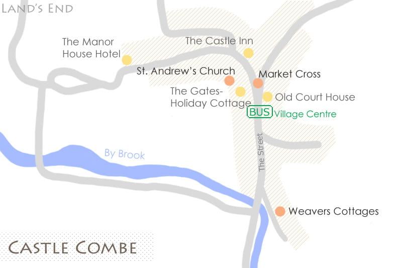 カースル・クームの地図