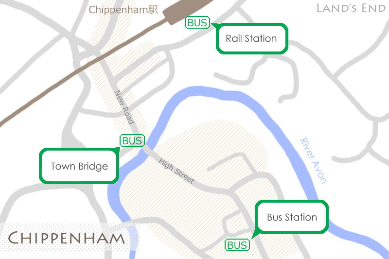 チッペナムの地図