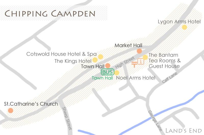 チッピング・カムデンの地図