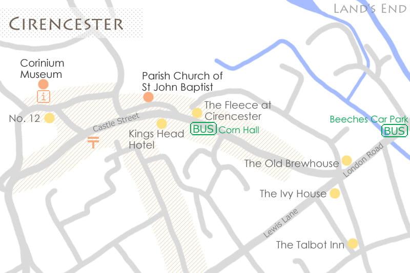 サイレンセスターの地図