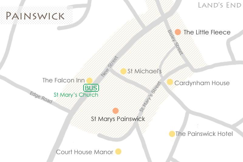 ペンズウィックの地図