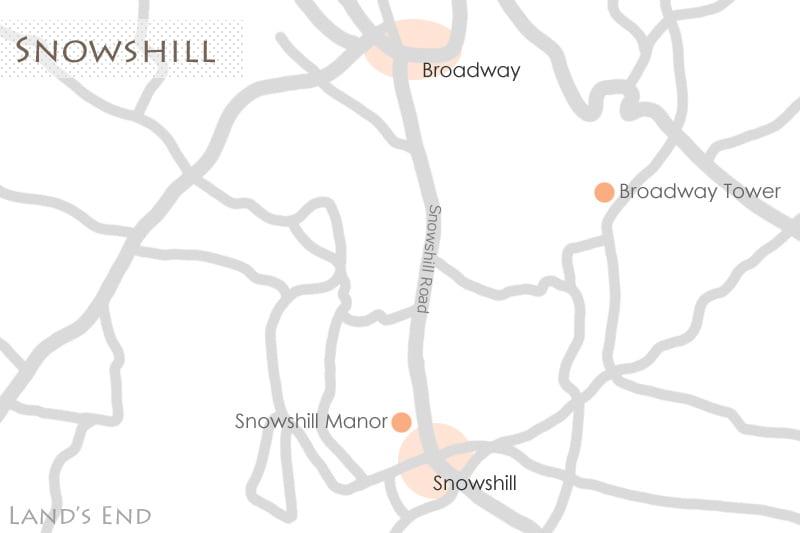 スノーヒルの地図