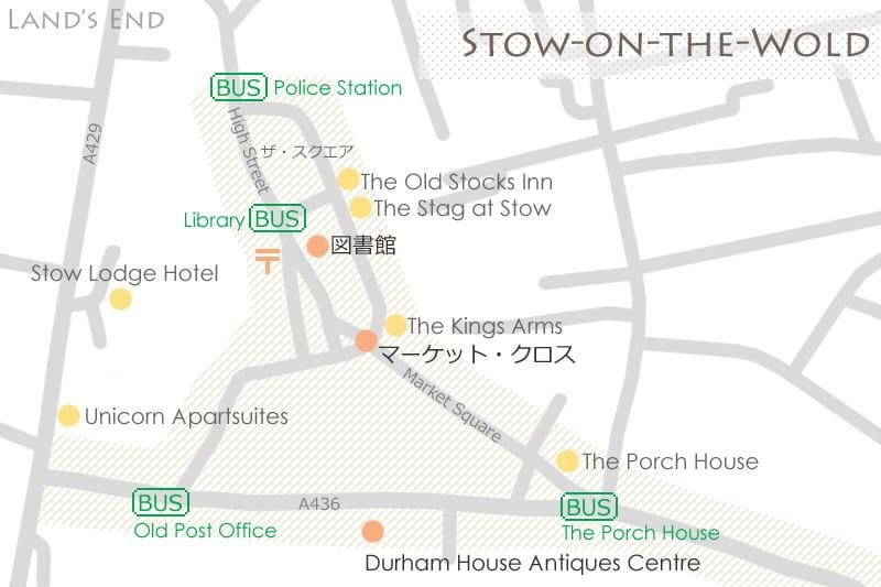 ストウ・オン・ザ・ウォルドの地図