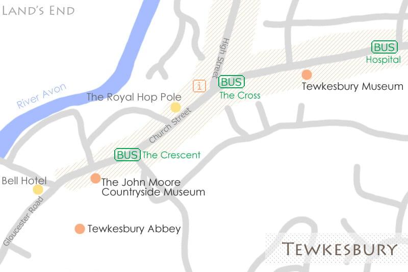 テュークスベリーの地図