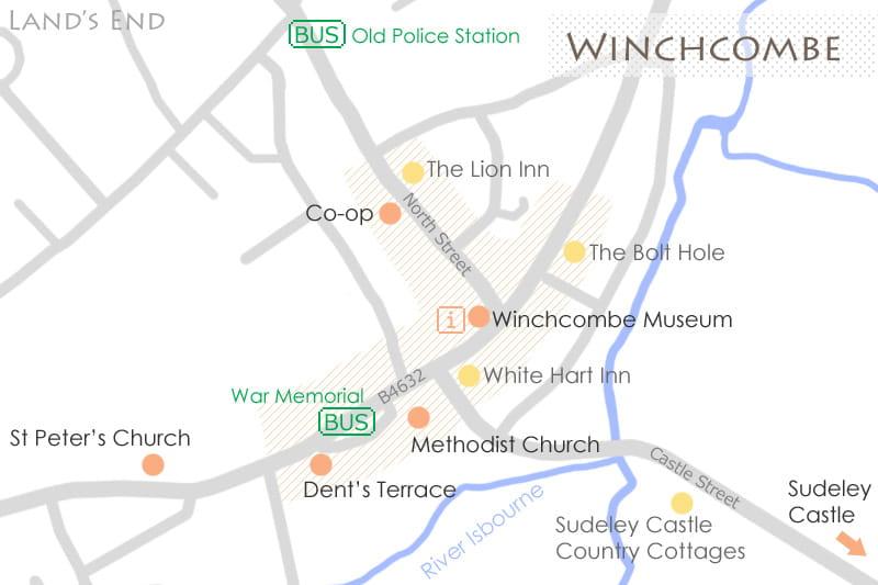ウィンチカムの地図