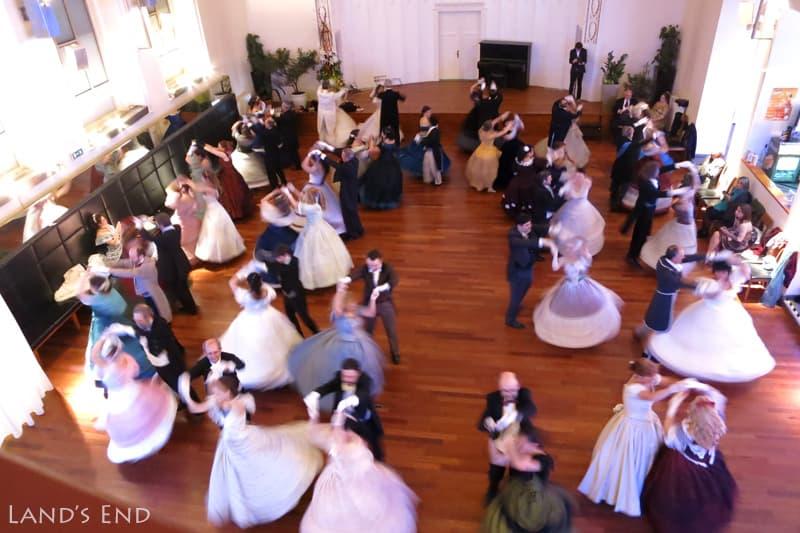 ホテルで社交ダンスのイベントが催されていた