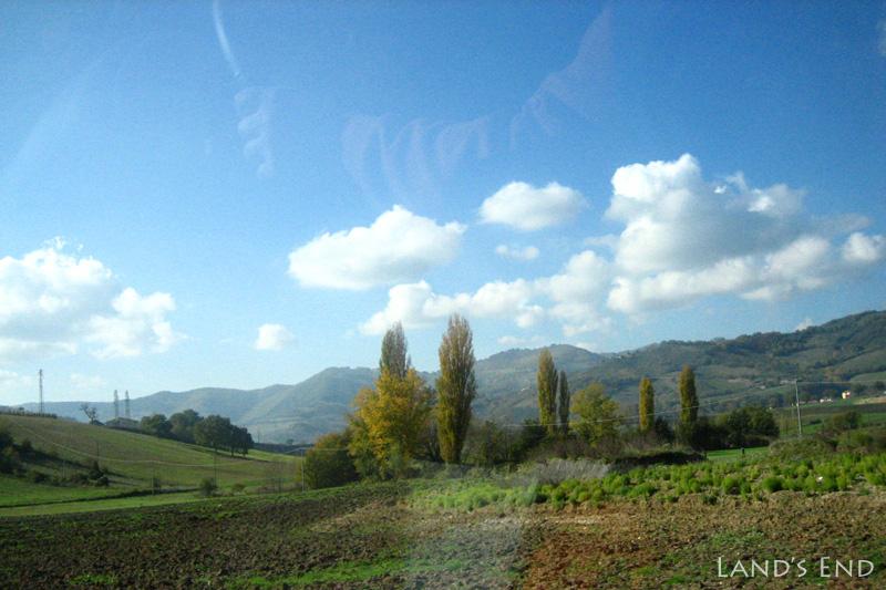 ドライブの道中。のどかな景色