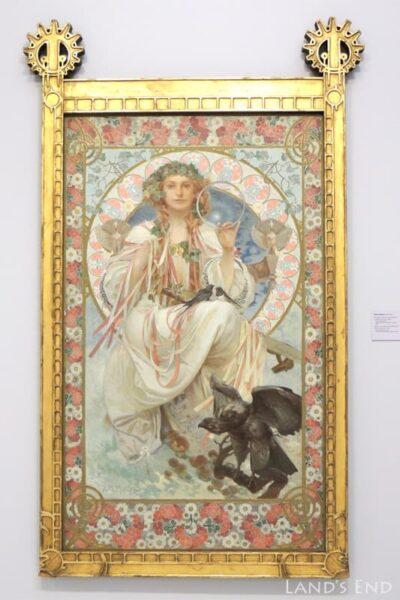 ヴェレトゥルジュニー宮殿、アルフォンス・ミュシャの作品