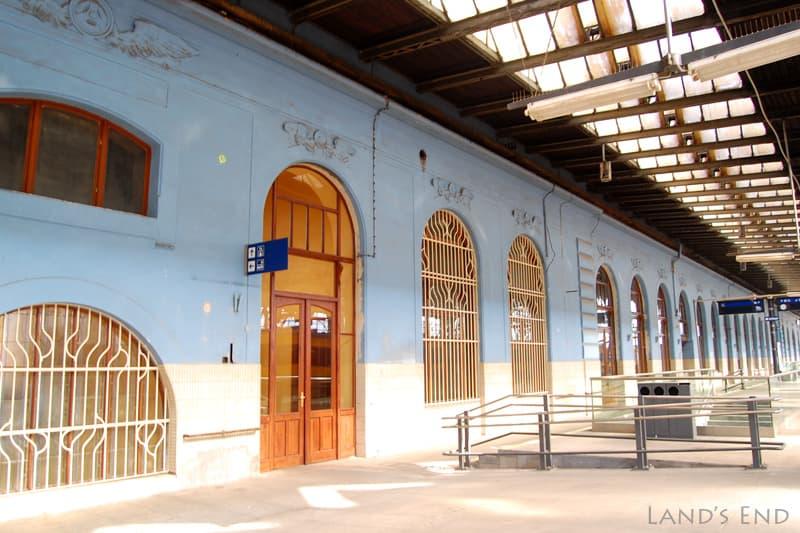 プラハ本駅のホーム