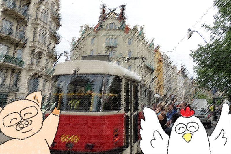 プラハ観光はトラムトメトロを使って